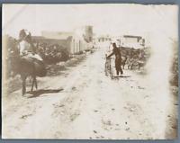 Tunisie, Radès (رادس), village arabe, entrée côté nord  Vintage citrate print. P
