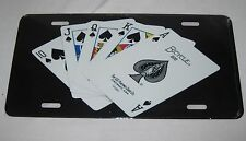 Spades Royal Flush Poker License Plate 6 X 12 Inches New Aluminum Made In Usa