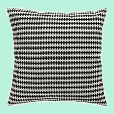"IKEA""Stockholm""Black&White""Geometric Pillow COVER 22""Cotton Velvet Washable NEW"