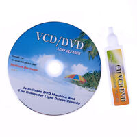 DVD VCD CD CD-ROM LENS CLEANER KIT ROM PLAYER CLEANING TV GAME WET/DRY w/Music