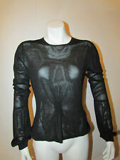 GUCCI pure silk long bubble cuff sleeve knit top sweater blouse sz Medium