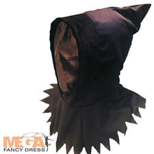 Scary Ghoul Hood Mens Halloween Fancy Dress Ghost Horror Adults Costume Mask New