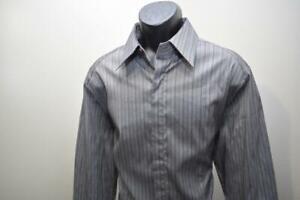 7 Diamonds Stretch Dress Shirt Striped Designer Long Sleeve Mens Size 2XL XXL