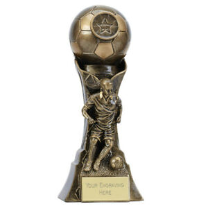 FEMALE Genesis Football Trophy 2 sizes Free Engraving up to 45 Letters A4053
