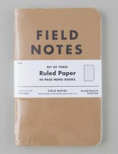 Field Notes Original 3 Pack - Ruled