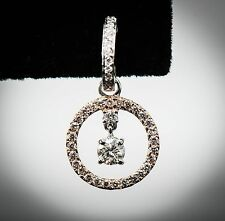 14K / 18K Two-Tone White & Rose Gold Diamond Earrings...STUNNING! Certified