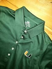 Womens Peter Millar Miami Hurricanes Short Sleeve Polo Shirt Golf Size XS