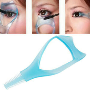 3in1 Trendy Mascara Shield Guard Eyelash Card Comb Applicator Makeup Tool