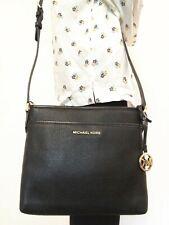 NWT Michael Kors Bedford Small NS Crossbody Bag Leather Black