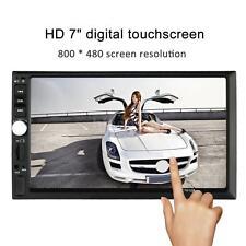"Double 2 DIN 7"" HD Car Radio MP5 Multimedia Player Bluetooth FM Aux Input US"