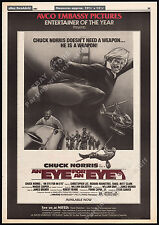 AN EYE FOR AN EYE__Orig. 1981 Trade print AD promo / poster__CHUCK NORRIS__MAKO