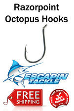 9/0 RazorPoint Octopus Hooks 25pc Chemically Sharpened. Increase your catch rate