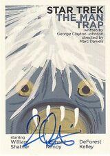TOS Portfolio Prints Juan Ortiz AUTOGRAPHED Parallel Card JOA6 The Man Trap MINT
