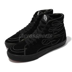 Vans V38CF Flame SK8-HI Black White Men Unisex Casual Lifestyle Shoe 610002-0001