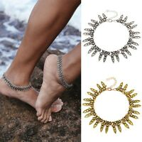 Women Jewelry Anklet Silver Bead Chain Ankle Bracelet Barefoot Sandal Beach Foot