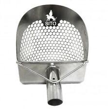 """Sito - 7.75"""" Wide (Hexagonal Holes) Stainless Steel Beach Metal Detecting Scoop"""