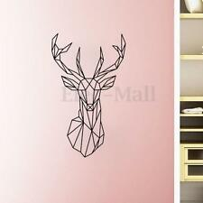 NEW Geometric Deer Home Decal DIY Mural Animal Art Wall Sticker Removable Vinyl