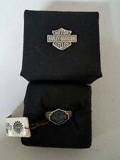 #136 NEW Harley-Davidson sterling silver ring, black bar and shield, MOD sz 11