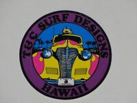 VINTAGE 1980's T&C Town & Country Surf Sticker Hawaii