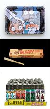 32 Classic King Raw Cones , 7in*5in Rolling Tray , Clipper Bundle And Save