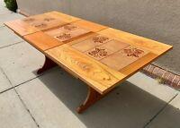 Midcentury Danish Modern Teak and Tiles Dining Table