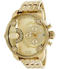 NEW Diesel Men's Little Daddy DZ7287 Dual Time Chrono Gold S-Steel Fashion Watch
