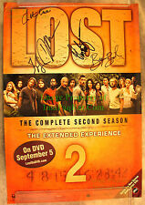 LOST Season 2 DVD poster SIGNED * 5: 1-OF-A-KIND Jorge Garcia, Daniel Dae Kim ++