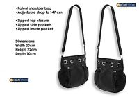 WOMENS BLACK PATENT SHOULDER HANDBAG ACROSS BODY CROSS BODY BAG ADJUSTABLE STRAP