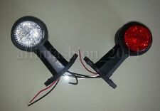 New 2x 24V LED Recovery Side Marker Truck Trailer Camper Lorry Light Lamp Stalk