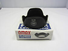 Used OMAX Plastic 58mm Screw In Flower Petal Lens Hood N101047