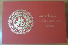 Australia Lunar Serie 2 MEDAGLIA Box per 12 x 5 once monete d'argento