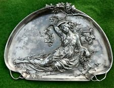 FABULOUS POLISHED PEWTER TRAY / PLATTER BY WMF c1900 - ART NOUVEAU JUGENDSTIL
