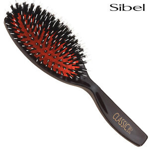 Sibel Classic 71 Hair Extension Hair Brush - Cushioned WIth Nylon + Boar Bristle