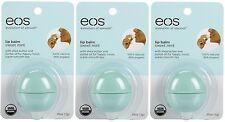 3 Pack EOS Smooth Sphere Evolution Lip Balm Sweet Mint Flavor .25oz