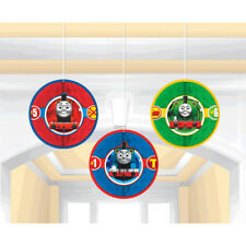 Thomas The Tank Engine Birthday Party Supplies Hanging Honeycomb Decoration 3pc
