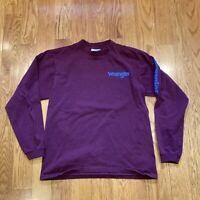 Vintage Wrangler Team Long Sleeve Shirt Maroon Red Size Medium made in USA