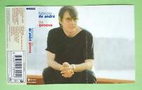 COPERTINA INLAY MC Musicassetta FABRIZIO DE ANDRE'Da Genova ITALY no cd lp dvd