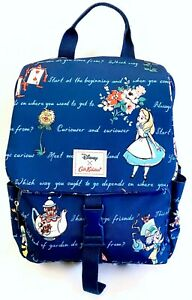Cath Kidston Disney Alice Wonderland Rucksack Buckle Backpack Alice's Words Bag