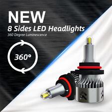 8-Side 9145 HB3 9005 LED Headlight CSP 220W 48000LM Fog Lights Kit CREE 6000K