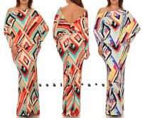 Plus Abstract Art Multi Way Maxi Dress On Off Shoulder Open Back Convertible