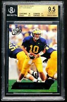 "2000 Tom Brady Rookie BGS 9.5 GEM MINT Press Pass #37 ""Stunning"" NE Patriots"