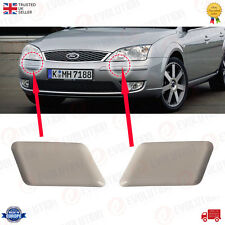 A PAIR OF HEADLAMP WASHER JET CAP FITS FORD MONDEO MK3 2000 TO 2007