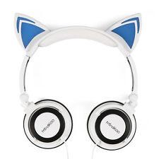 Gato Oreja Auricular Plegable Brillante con luz LED  Intermitente para Juegos