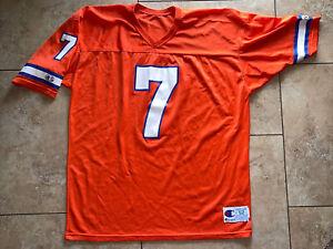 Vintage John Elway Denver Broncos Champion Jersey USA Made Sz 52 Orange NFL New!