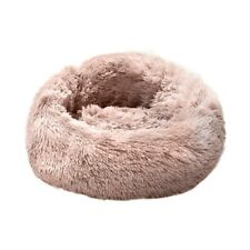 Pet Dog Cat Bed Donut Soft Plush Fluffy Warm Calming Bed Sleeping Kennel Nest