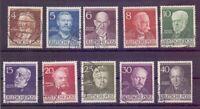 Berlin 1952 - Berühmte Männer MiNr.91/100 rund gestempelt - Michel 50,00 € (730)