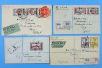 Irak Iraq 1920's Posten Luftpost-Briefe aus, nach oder via Bagdad Basra Airmail