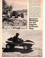 1969 BONANZA MINIBUGGY ~ ORIGINAL 2-PAGE ARTICLE / AD