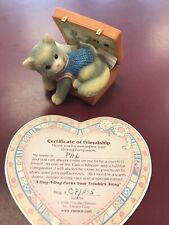 """1994 Calico Kittens """"A Hug-A-Day Packs Your Troubles Away� #488658 W/Cert"""