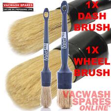 VALETPRO SASH DETAIL BRUSHES ALLOY WHEELS AND DASH / VALETING / BRUSH SET OF 2
